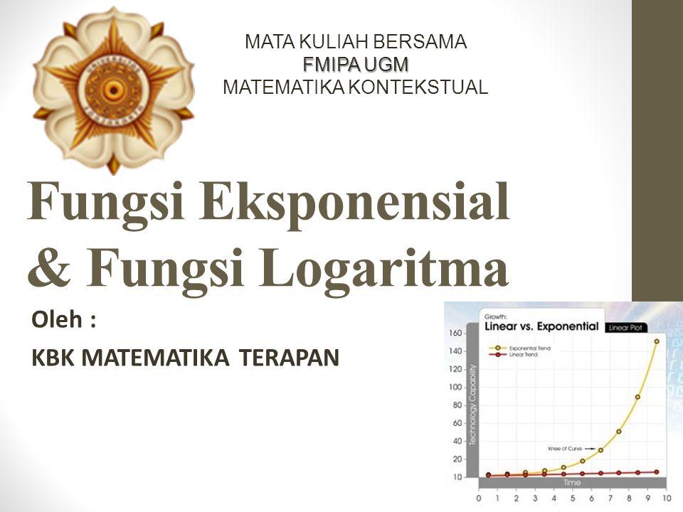 Logaritma Logaritma dari x dengan basis b>0 dan b≠1 didefinisikan sebagai Contoh.