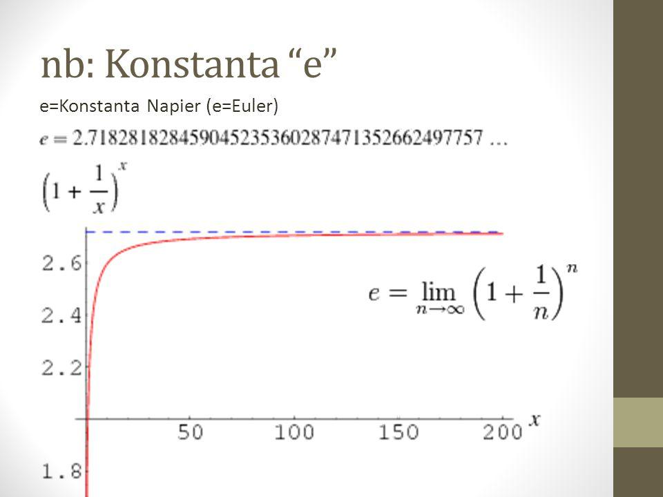 """nb: Konstanta """"e"""" e=Konstanta Napier (e=Euler)"""