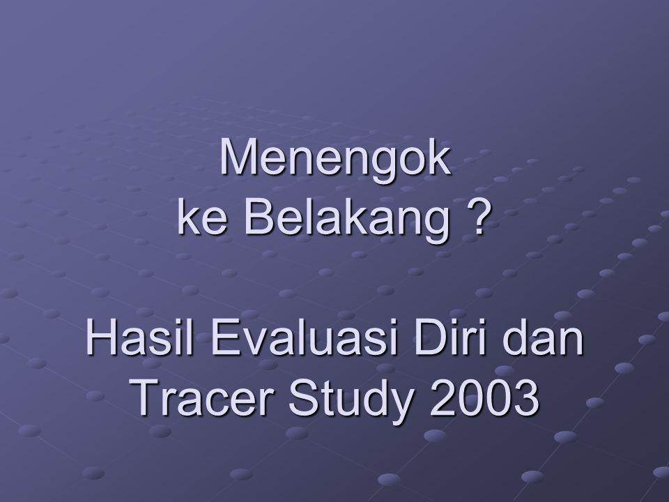 Menengok ke Belakang ? Hasil Evaluasi Diri dan Tracer Study 2003