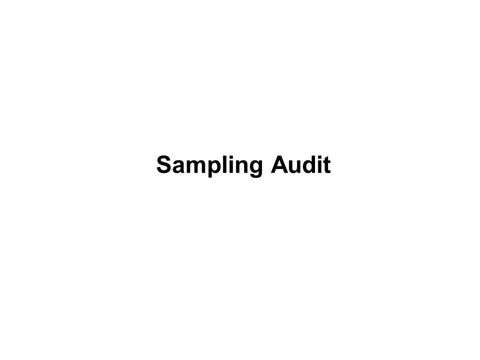 Sampling Audit