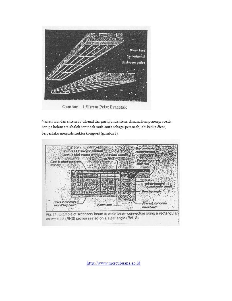 Variasi lain dari sistem ini dikenal dengan hybrid sistem, dimana komponen pracetak berupa kolom atau balok bertindak mula-mula sebagai perancah, lalu