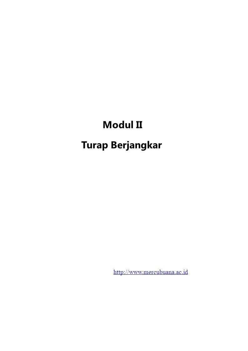 4.Turap Berjangkar II–1 Turap Berjangkar 1.