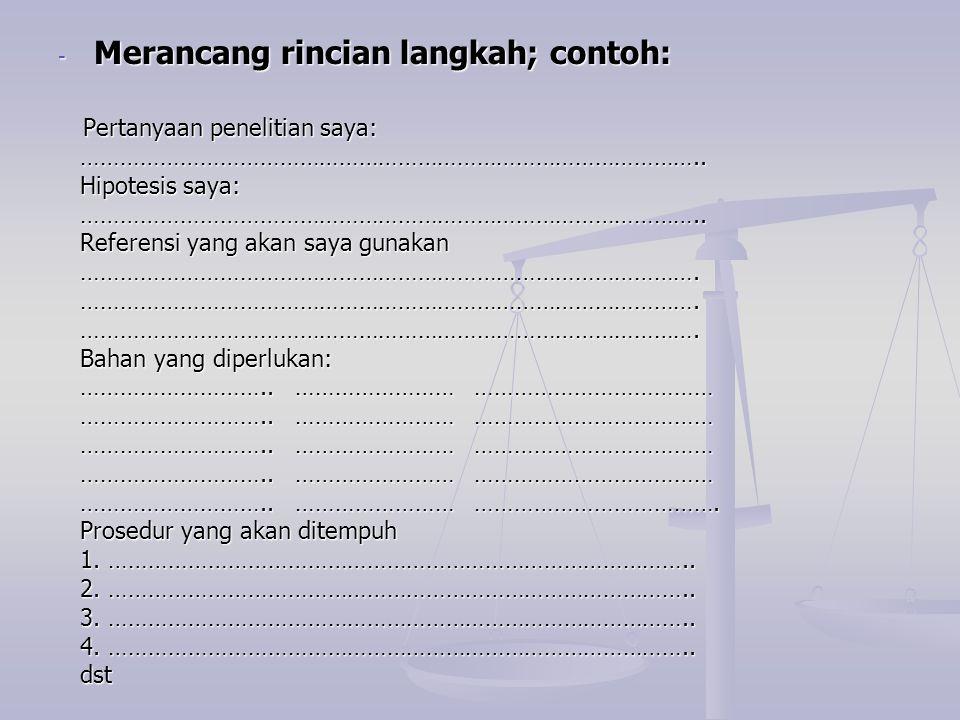 Contoh lembar spesifikasi pengumpulan data Nama……………………..