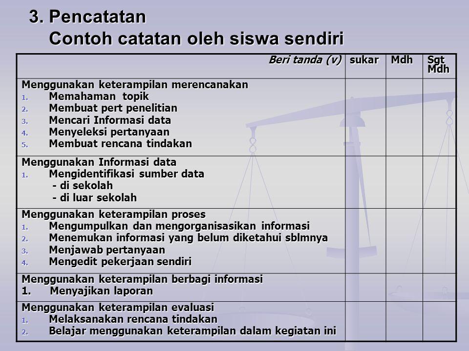 Contoh Spesifikasi Petunjuk Penyajian 1.