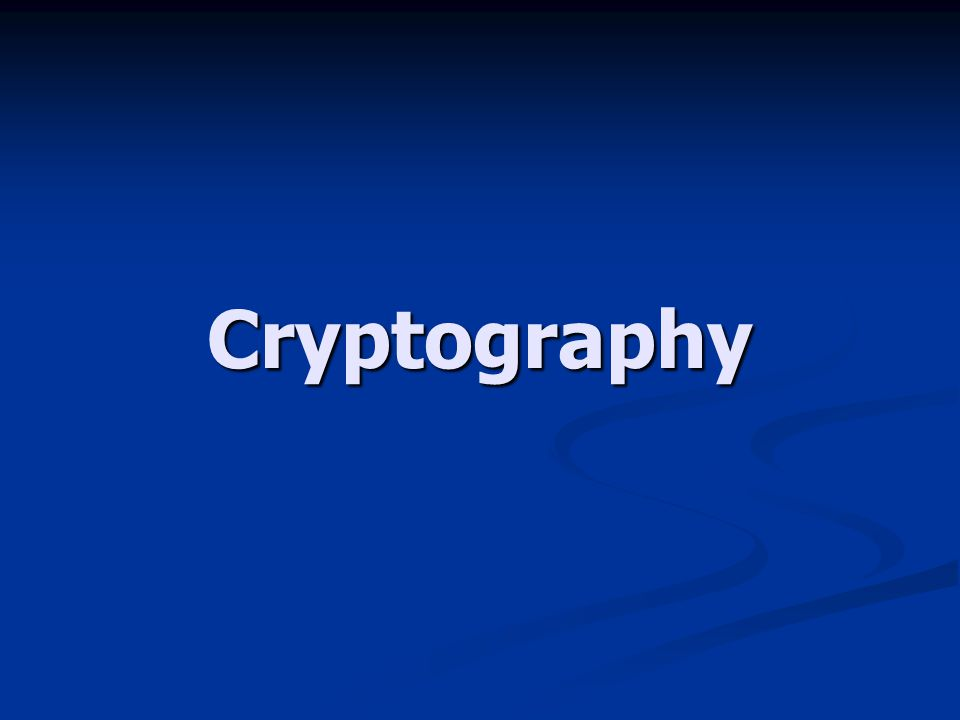 Cryptography Ilmu sekaligus seni untuk menjaga keamanan pesan