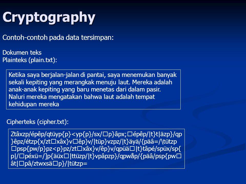 Cryptography Dokumen gambar Plainteks (lena.bmp): Cipherteks (lena2.bmp):plainteks (lena.bmp):