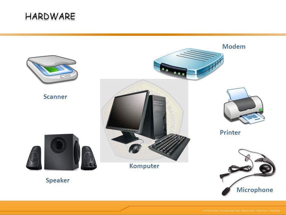 HARDWARE Modem Scanner Komputer Microphone Printer Speaker