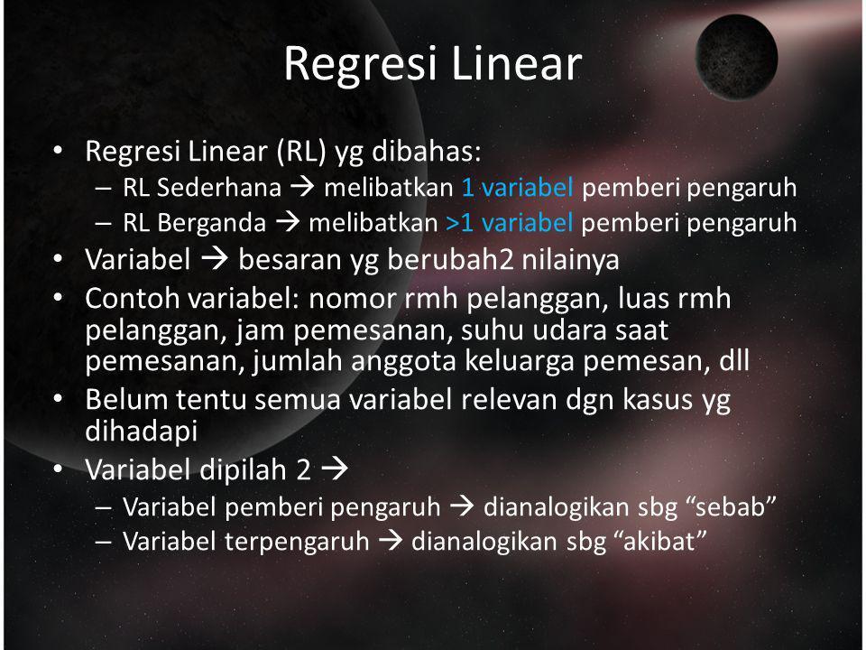 Regresi Linear No pesanan Jarak (km)Waktu (Menit) 10,509,95...