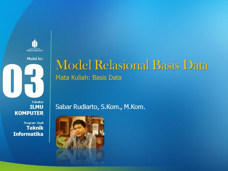 Bahasa Pada Model Data Relasional 2.