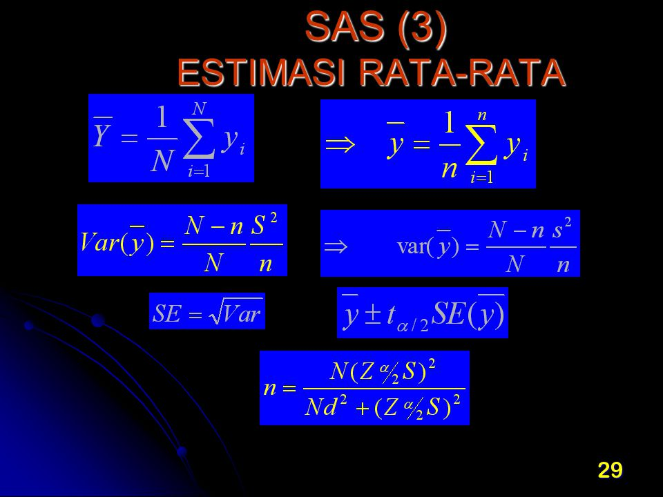 29 SAS (3) ESTIMASI RATA-RATA SAS (3) ESTIMASI RATA-RATA