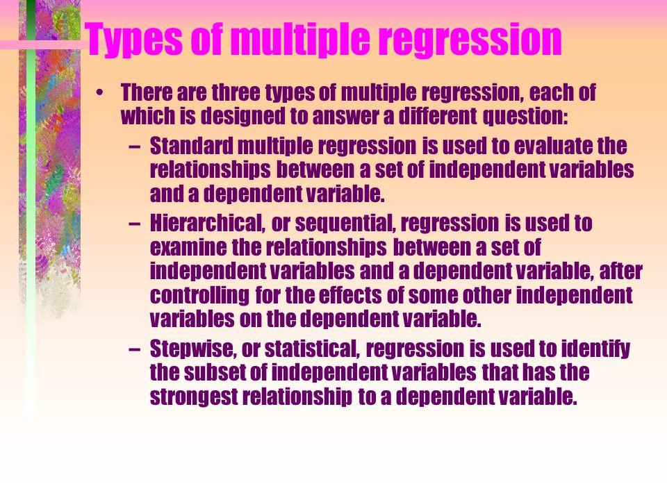 MODEL REGRESSI LINIER BERGANDA Model yg memperlihatkan hubungan antara satu variable terikat (dependent variable) dgn beberapa variabel bebas (independent variables).