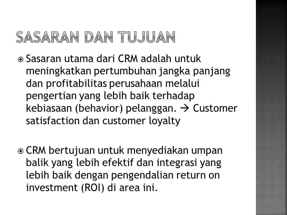  Campaign management mengkombinasikan elemen-elemen dari Operational dan Analytical CRM.