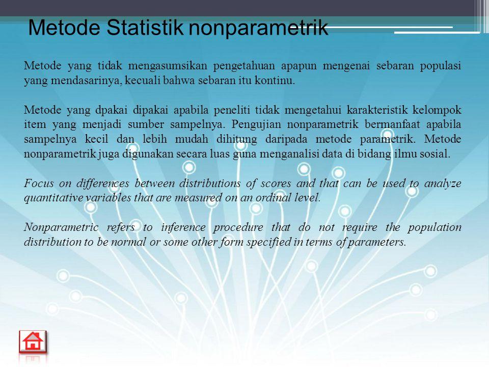 Metode Statistik Parametrik..