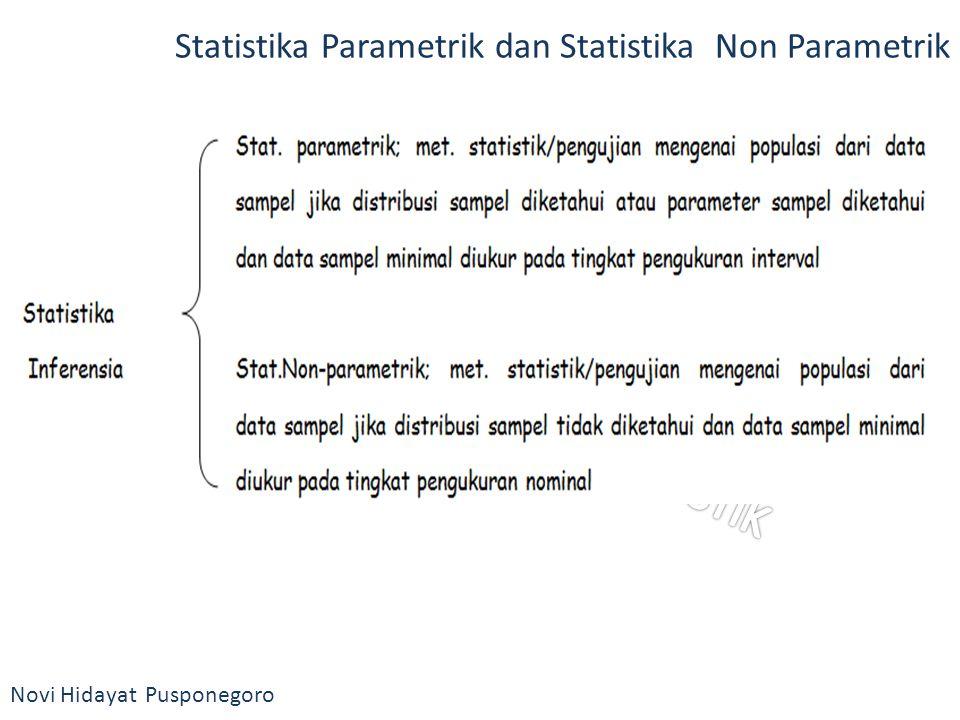 Statistika Parametrik dan Statistika Non Parametrik
