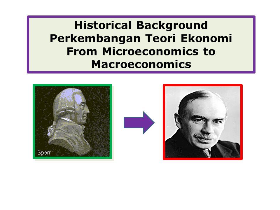 Historical Background Perkembangan Teori Ekonomi From Microeconomics to Macroeconomics