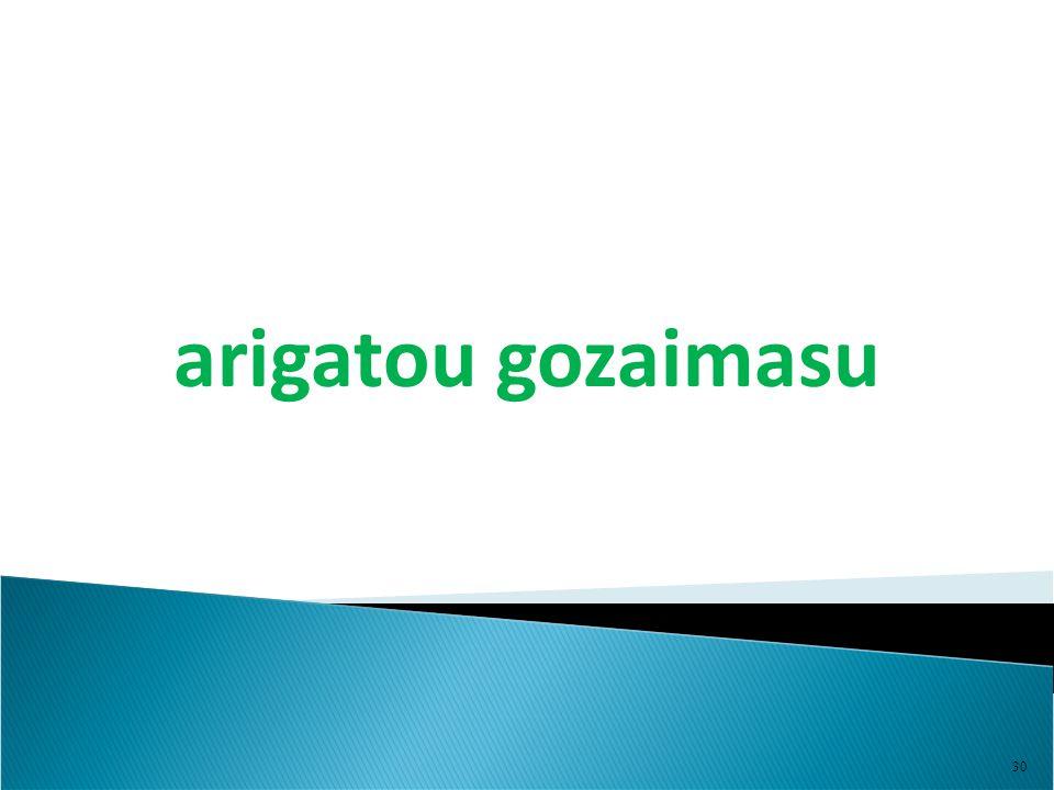 30 arigatou gozaimasu