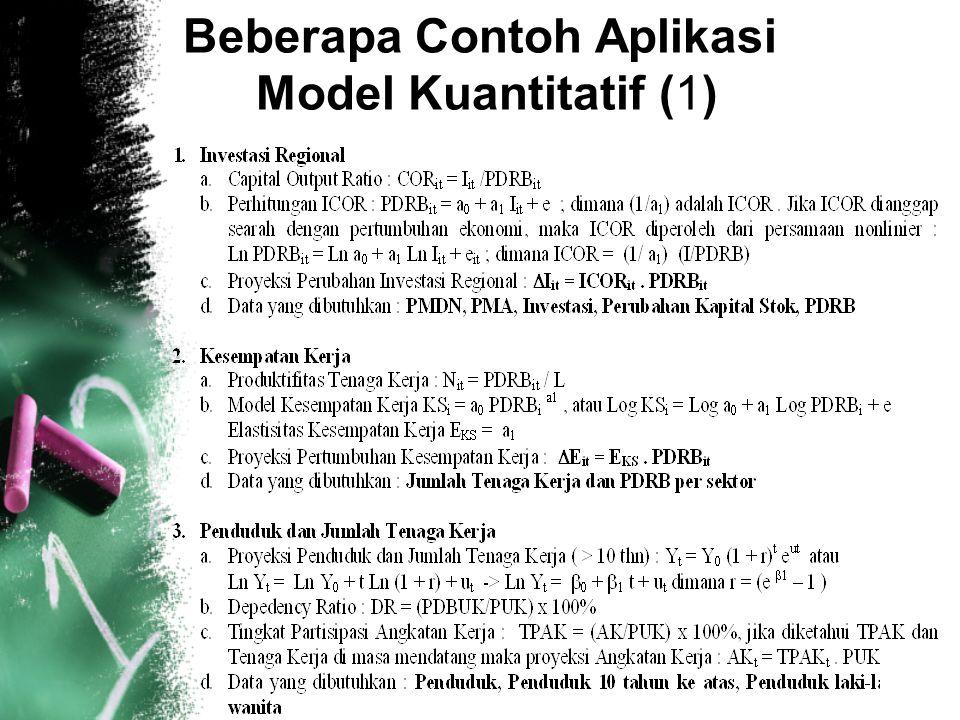 7 Beberapa Contoh Aplikasi Model Kuantitatif (1)