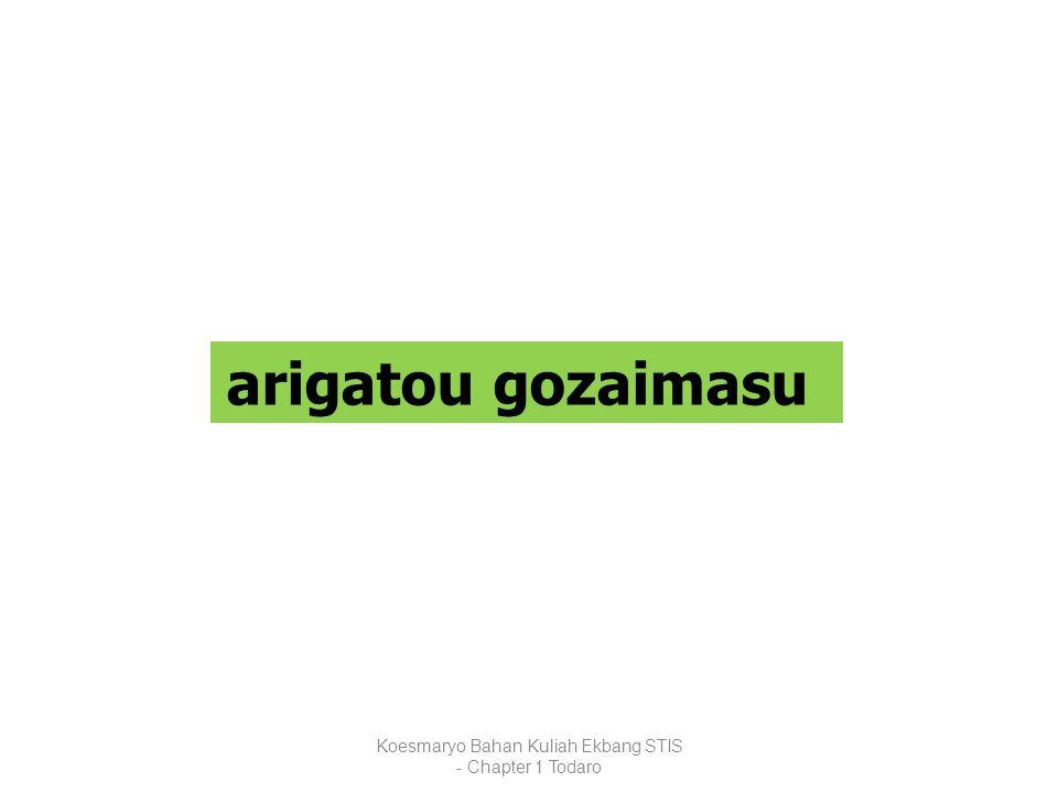 Koesmaryo Bahan Kuliah Ekbang STIS - Chapter 1 Todaro arigatou gozaimasu