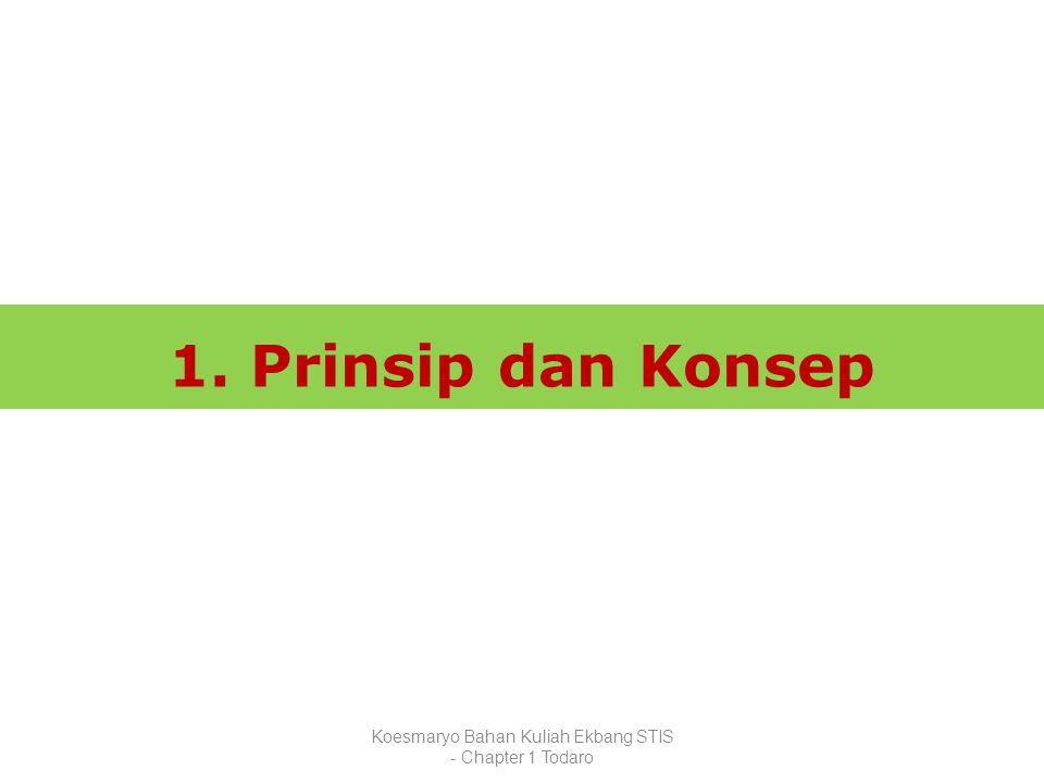 Koesmaryo Bahan Kuliah Ekbang STIS - Chapter 1 Todaro 1. Prinsip dan Konsep