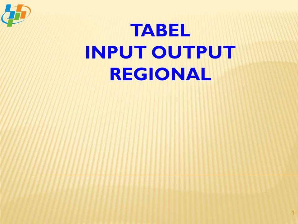 2  Tabel Input-Output (IO) Regional disusun untuk menyajikan gambaran hubungan timbal balik dan saling keterkaitan antar sektor dalam perekonomian di wilayah (propinsi/ kabupaten/kota tertentu;  Bentuk penyajian Tabel IO Regional adalah matriks;  Penyusunan Tabel IO Regional sebagai alat untuk analisis dan proyeksi perekonomian regional.