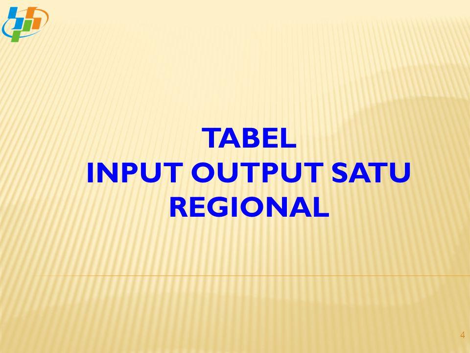 TABEL INPUT OUTPUT SATU REGIONAL 4