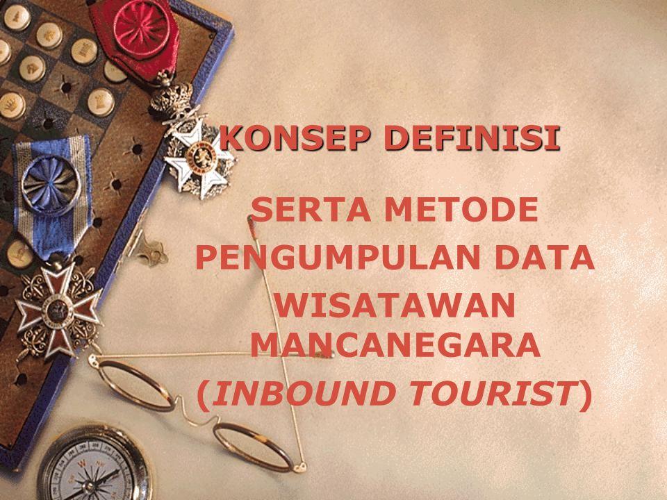 KONSEP DEFINISI SERTA METODE PENGUMPULAN DATA WISATAWAN MANCANEGARA (INBOUND TOURIST)