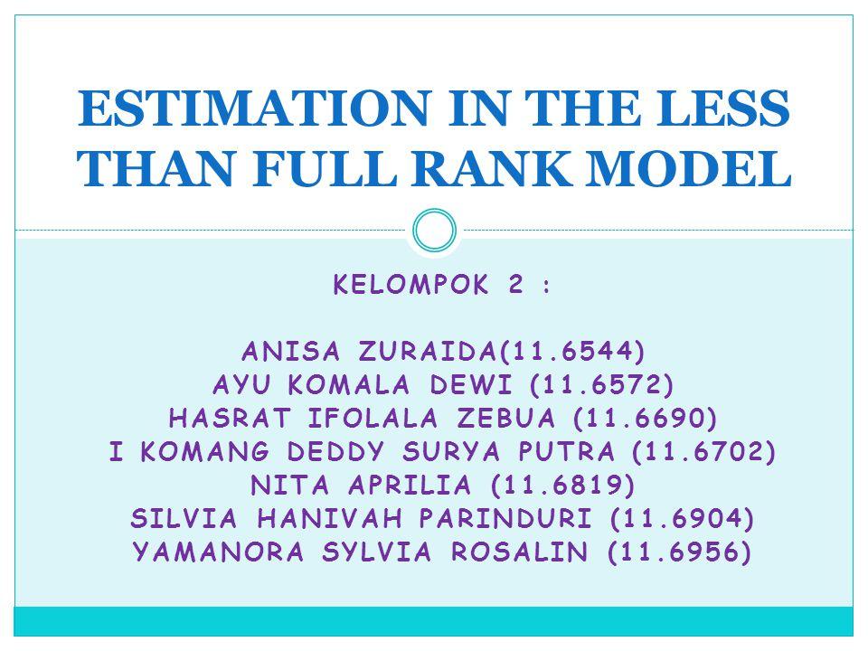 KELOMPOK 2 : ANISA ZURAIDA(11.6544) AYU KOMALA DEWI (11.6572) HASRAT IFOLALA ZEBUA (11.6690) I KOMANG DEDDY SURYA PUTRA (11.6702) NITA APRILIA (11.681