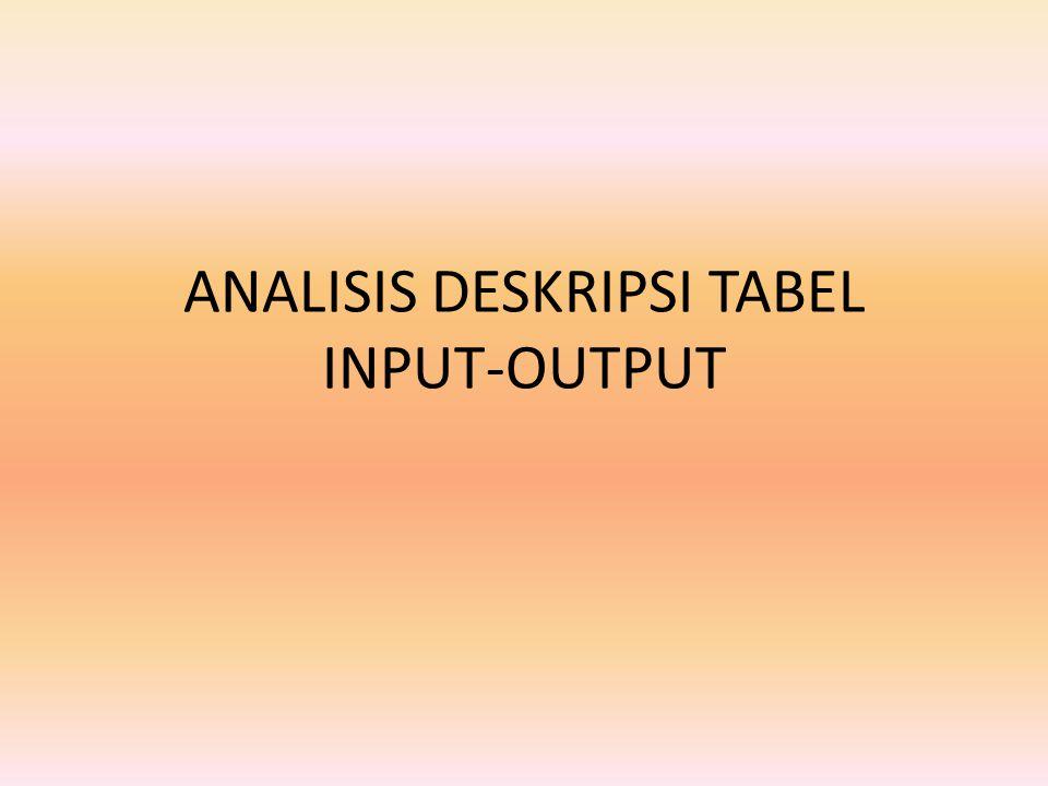Matriks teknologi Jika ada n sektor, maka akan ada nxn banyaknya koefisien input- output a ij.