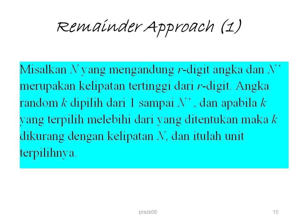 Remainder Approach (1) praze0615