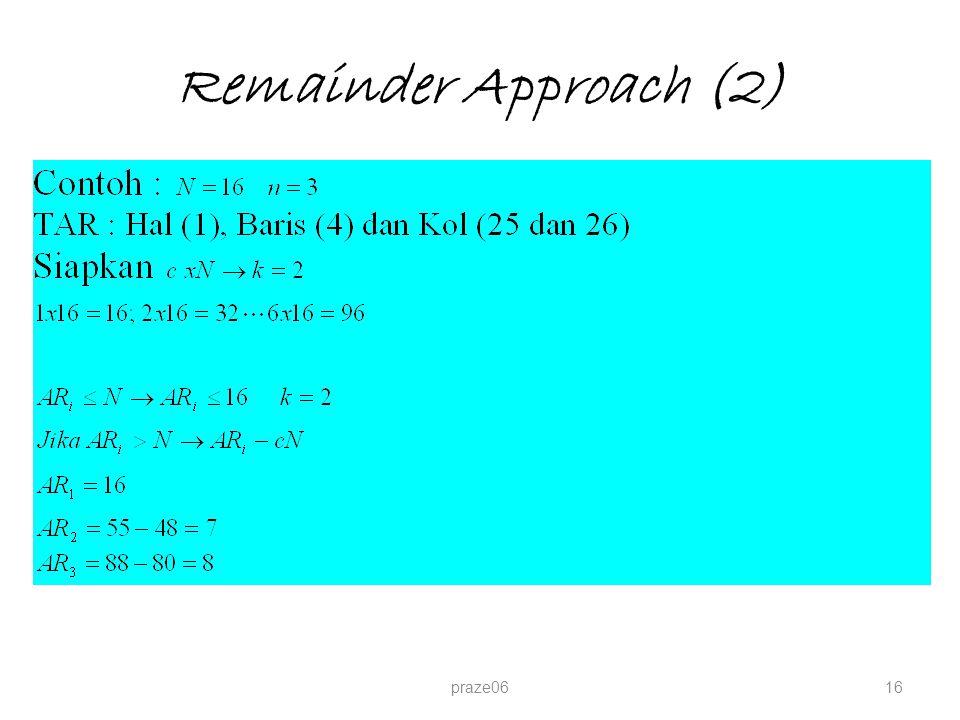 Remainder Approach (2) praze0616
