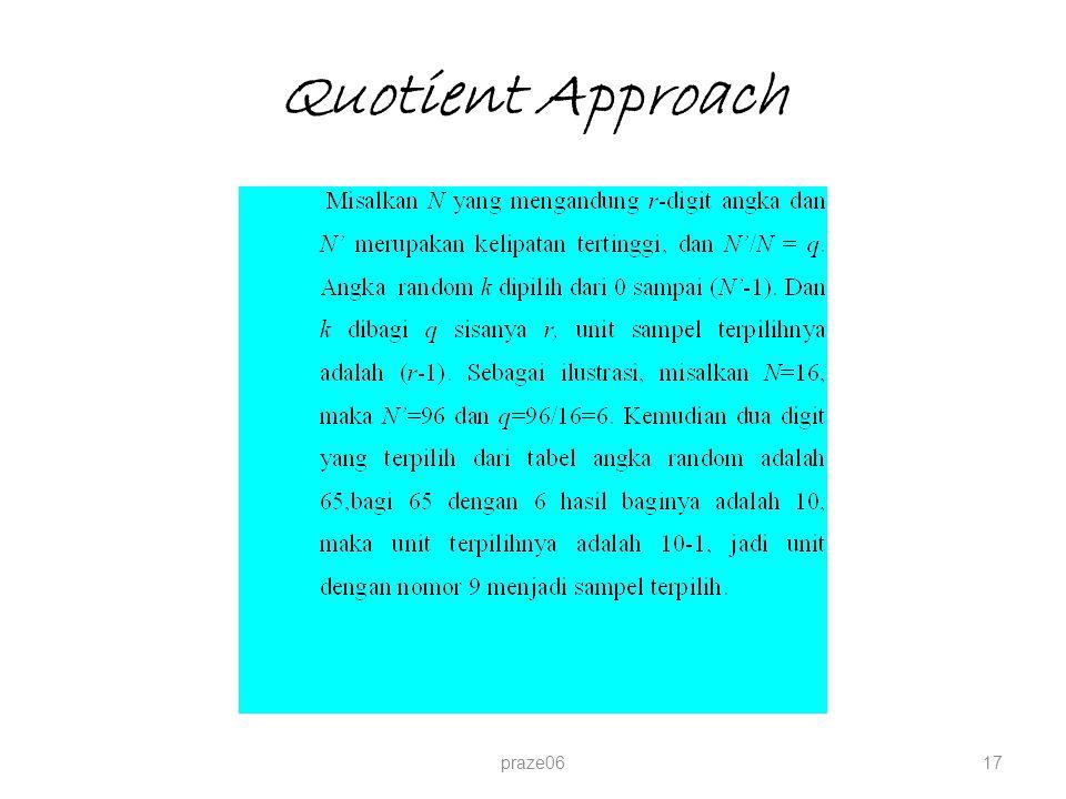 Quotient Approach praze0617