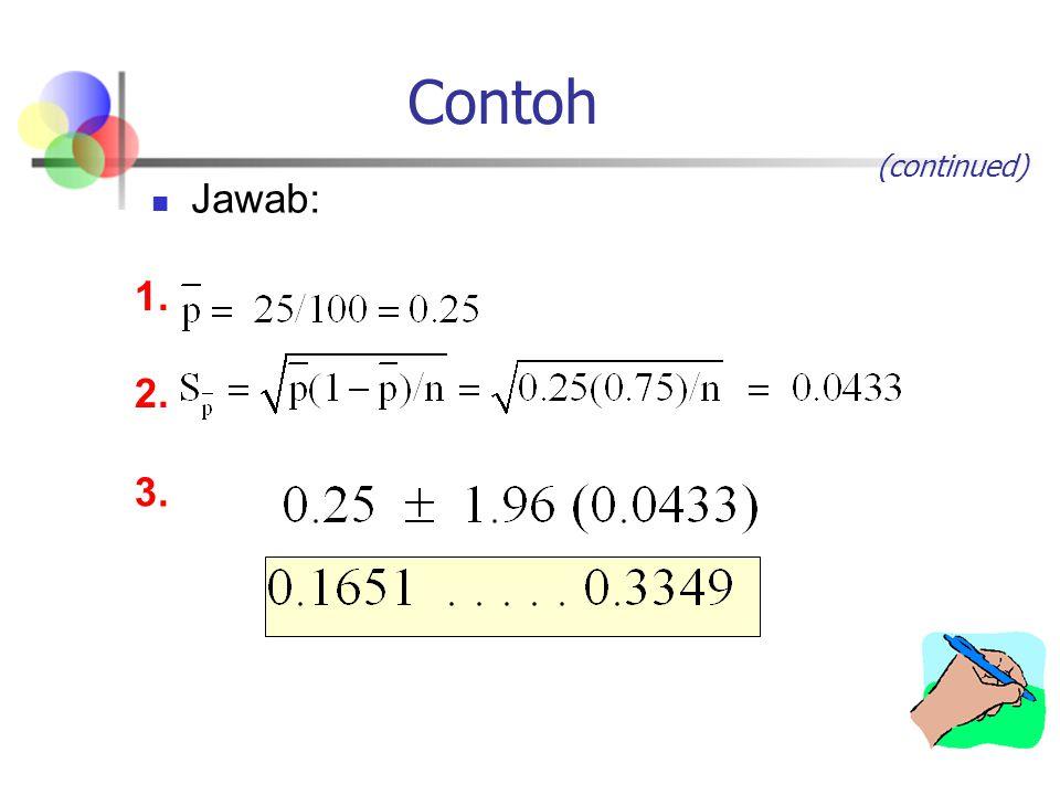 Contoh Jawab: 1. 2. 3. (continued)