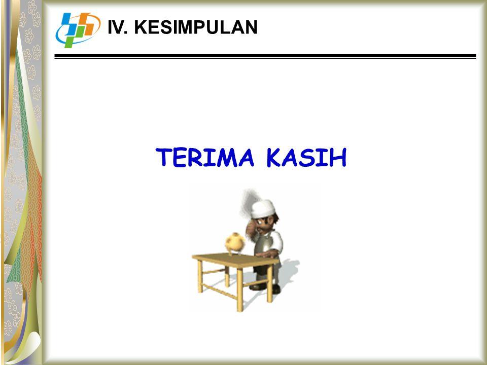 TERIMA KASIH IV. KESIMPULAN