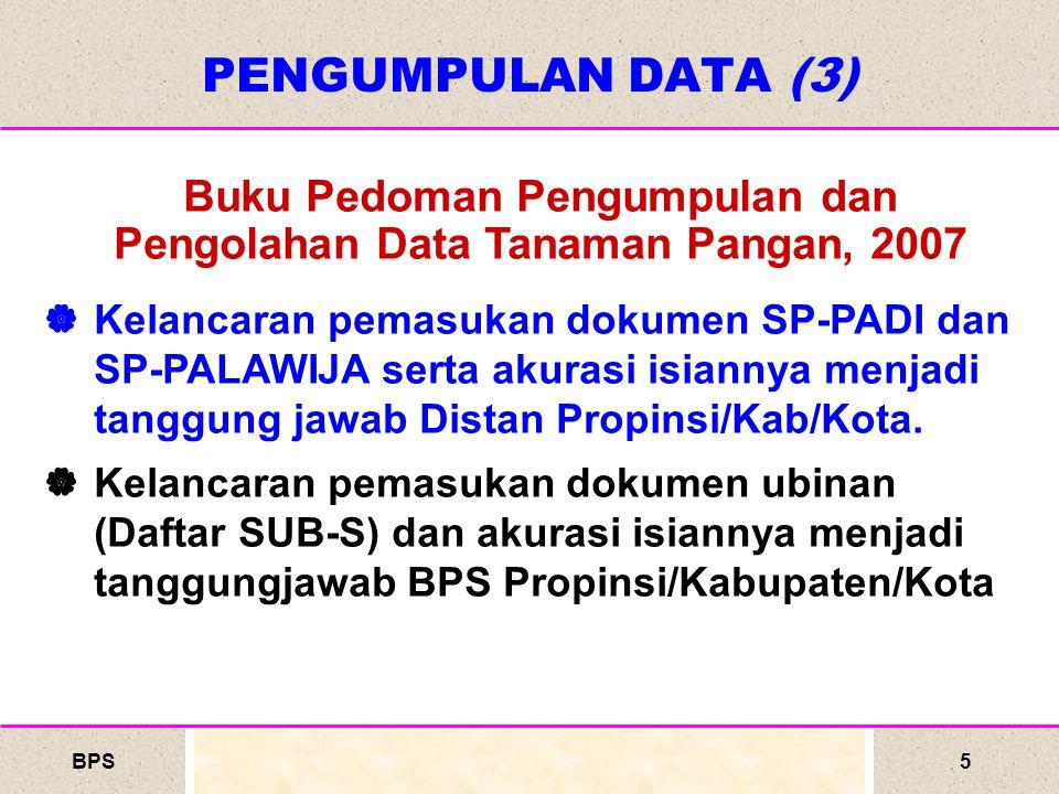 BPS6 PROSES MELAKUKAN UBINAN Alat Ubinan Memasang Alat di petak sawah/Plot Terpilih Menimbang Hasil Ubinan