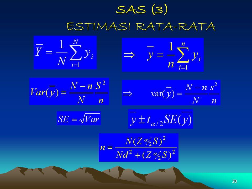 28 SAS (3) ESTIMASI RATA-RATA SAS (3) ESTIMASI RATA-RATA