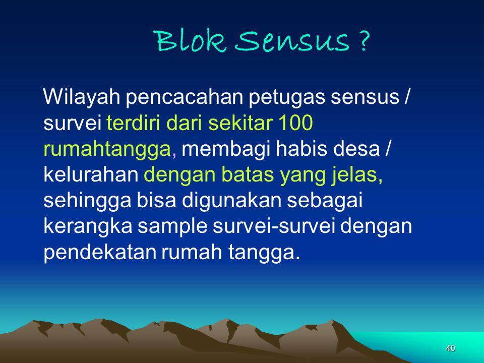 40 Blok Sensus .