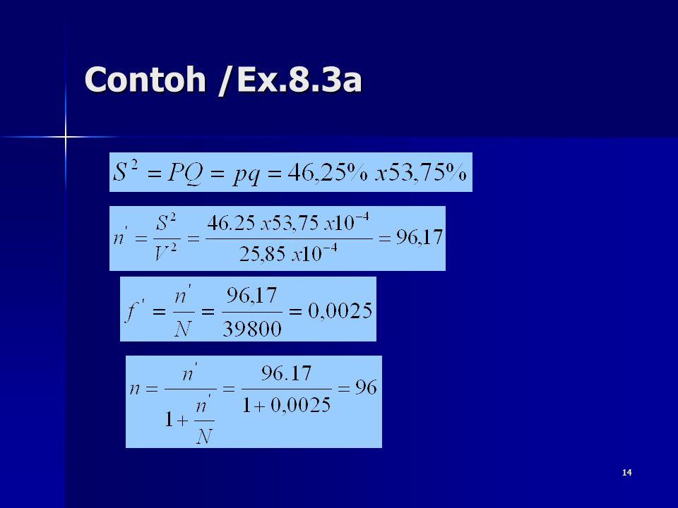 14 Contoh /Ex.8.3a