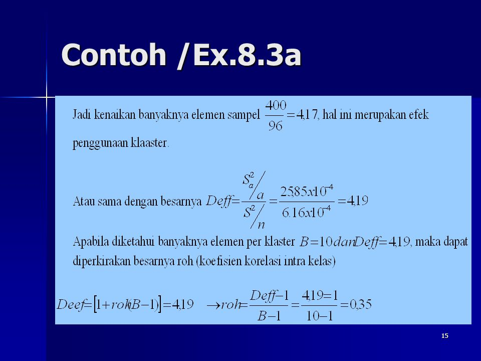 15 Contoh /Ex.8.3a