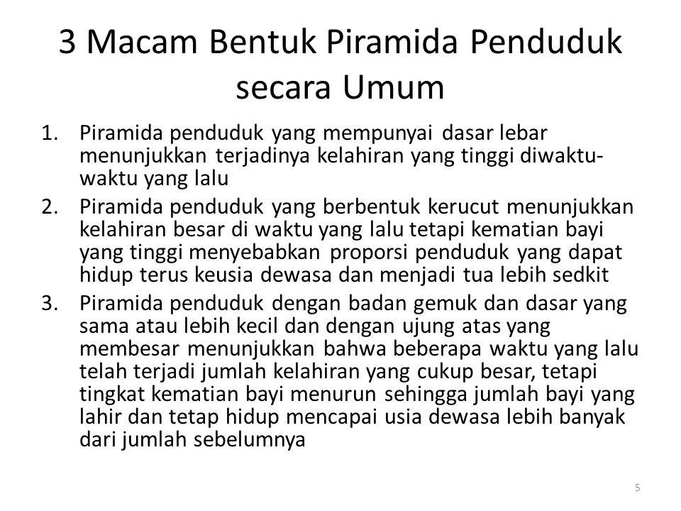 Gambar Piramida Penduduk Indonesia, SP 2000 (data dirapikan) 6