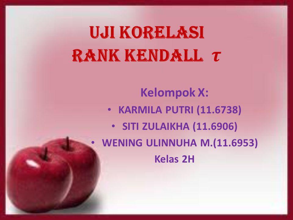 Kelompok X: KARMILA PUTRI (11.6738) SITI ZULAIKHA (11.6906) WENING ULINNUHA M.(11.6953) Kelas 2H