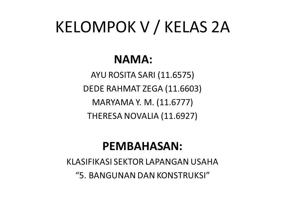 KELOMPOK V / KELAS 2A NAMA: AYU ROSITA SARI (11.6575) DEDE RAHMAT ZEGA (11.6603) MARYAMA Y. M. (11.6777) THERESA NOVALIA (11.6927) PEMBAHASAN: KLASIFI