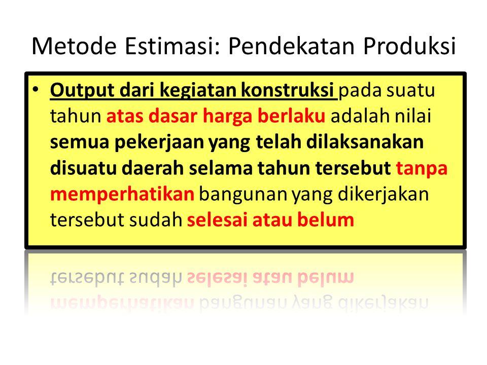 Metode Estimasi: Pendekatan Produksi