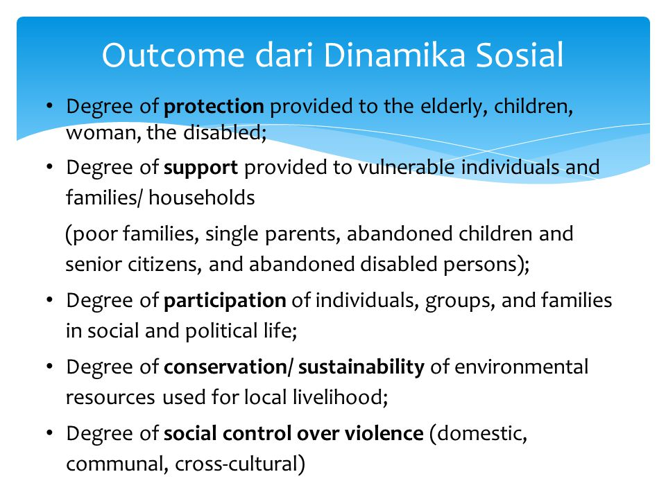 To strengthen Indigenous Potential within family, community and local social system.