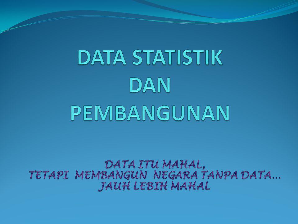 Kegunaan Data Statistik Dalam Perencanaan dan Evaluasi Keputusan/kebijakan diambil berdasarkan situasi dan kondisi yang obyektif dari permasalahan yang dihadapi.