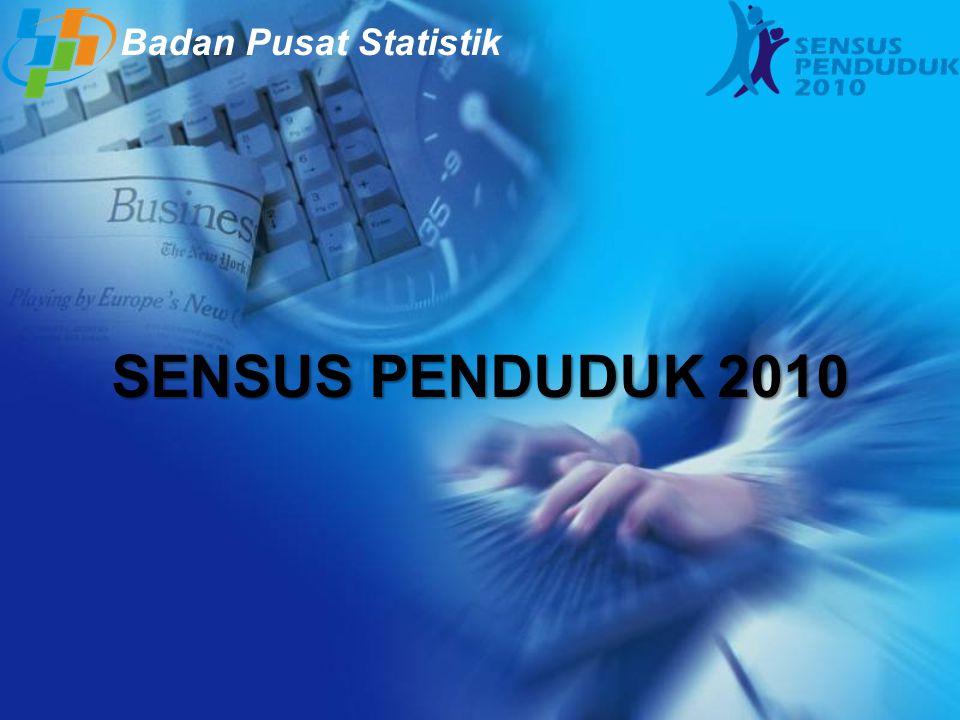 SENSUS PENDUDUK 2010 Badan Pusat Statistik