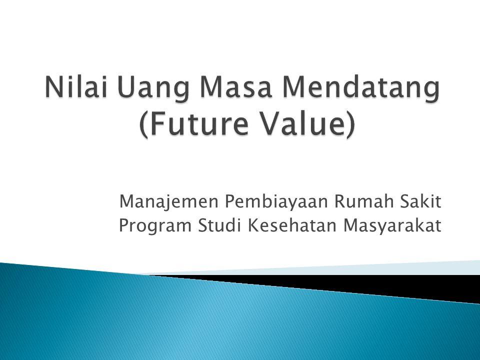 Manajemen Pembiayaan Rumah Sakit Program Studi Kesehatan Masyarakat