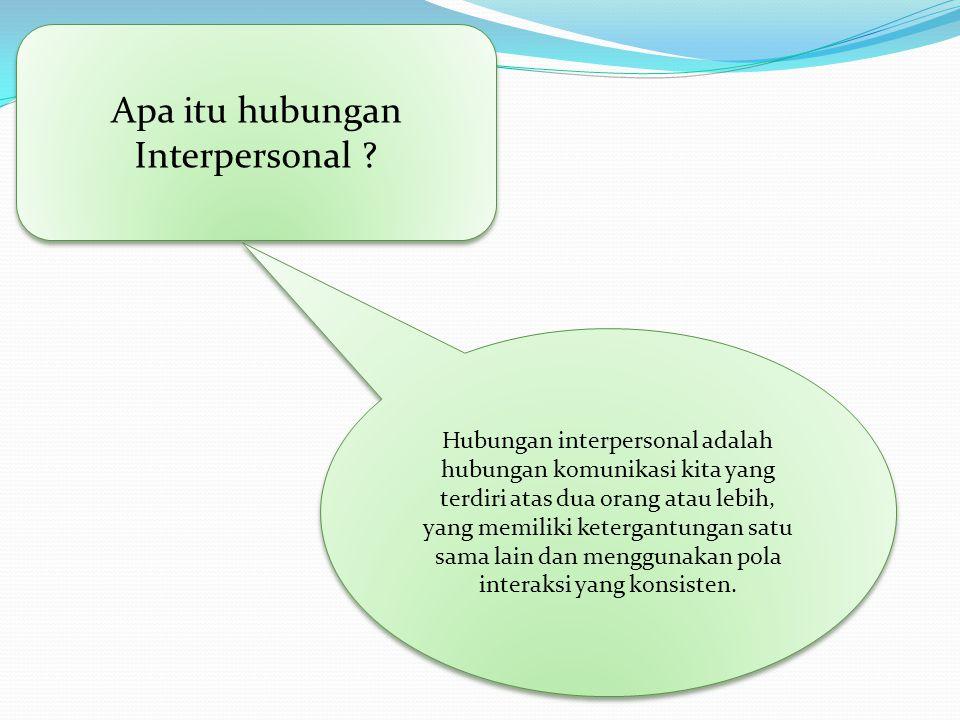 Apa itu hubungan Interpersonal .