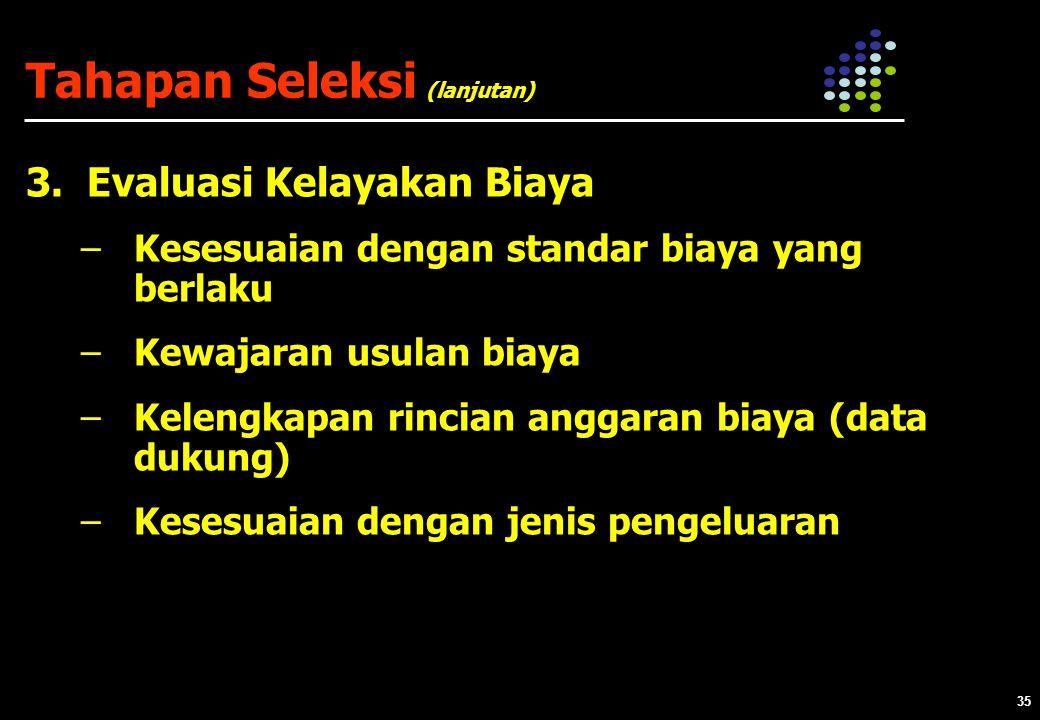 35 Tahapan Seleksi 3.