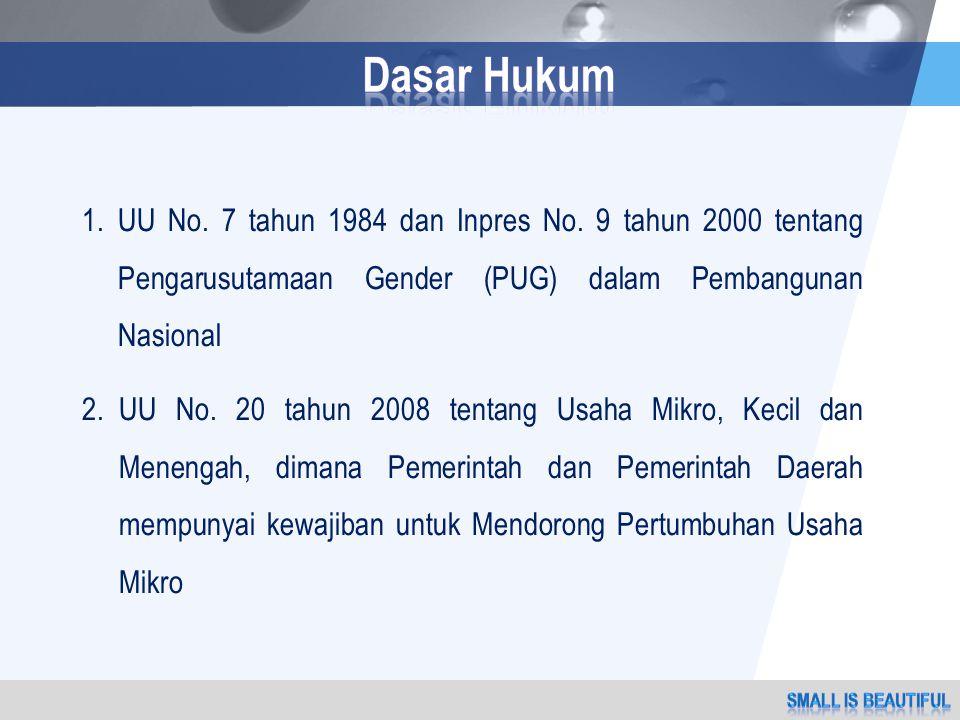 1.UU No. 7 tahun 1984 dan Inpres No.
