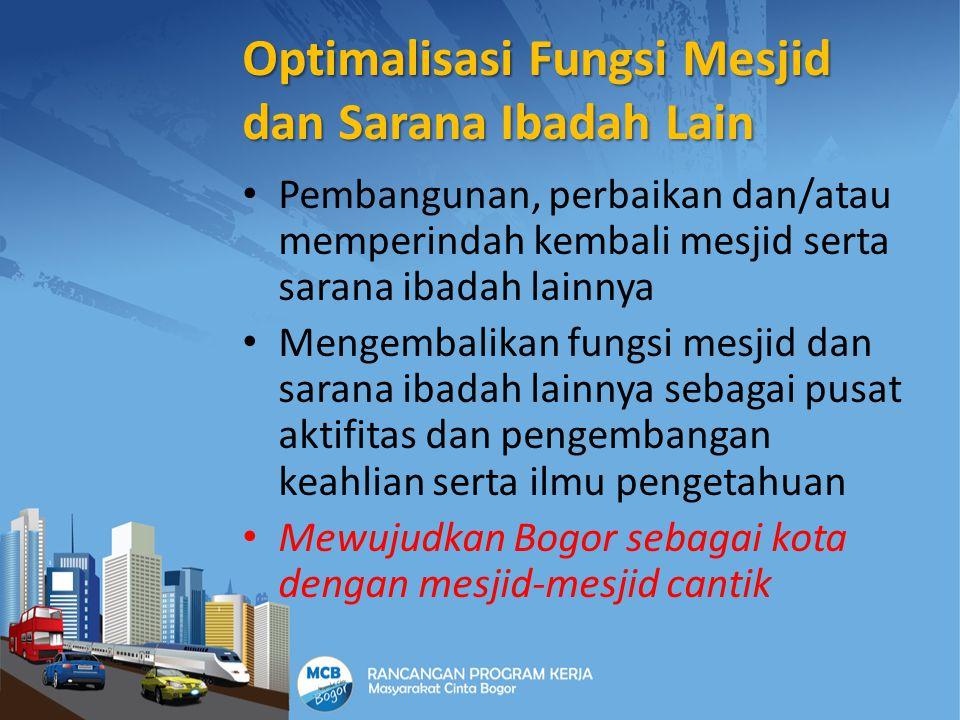 INVESTASI dan INFRASTRUKTUR Melakukan berbagai kegiatan yang dapat mengundang investasi baik dari pemodal asing maupun dalam negeri dari berbagai bidang Menyumbangkan pemikiran dan upaya lain dalam rangka peningkatan infrastruktur di Bogor